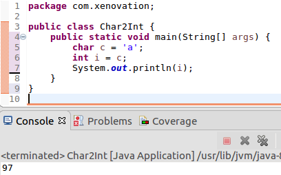 dataConversion-char-to-int