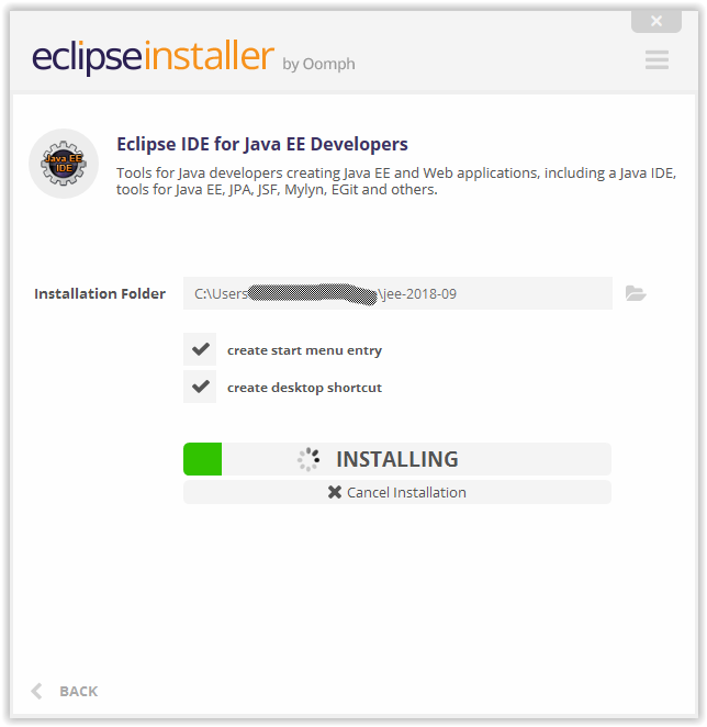 eclipse-installer-waiting-on-installation