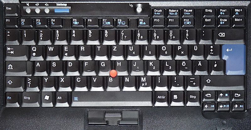classical 7 row Thinkpad keyboard