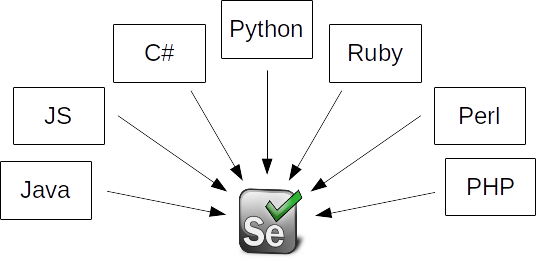 languages supported by selenium